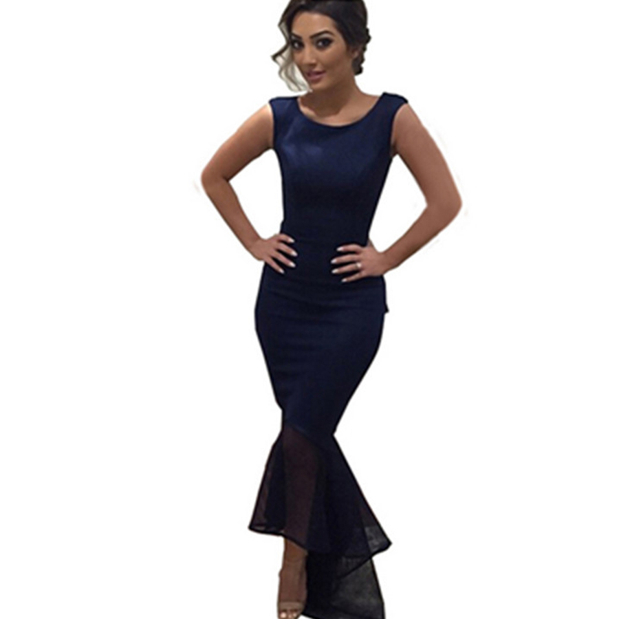 f84495a344 Sexy Tight Fishtail Dress Women Sleeveless Round Neck Long Dress Female  Summer Irregular Party Red Maxi Dress Ladies Vsestidos-in Dresses from  Women's ...
