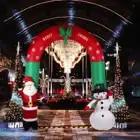 Behogar 240 CM/7.87 Piedi Babbo Natale Gonfiabile Pupazzo di Neve Saluti Arch Arco Yard Garden Vacanze di Natale Decorazioni Festival