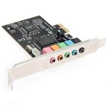 цена на New Arrival PCI Express PCI-E  5.1-channel sound card CMI8738 Audio Sound Card w/ Low Profile Bracket Expansion Card