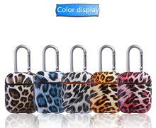 Wild Sexy Leopard Grain Earphone Headset Accessories PC and PU Leather protect case For Airpods Wireless Bluetooth Headset bags(China)