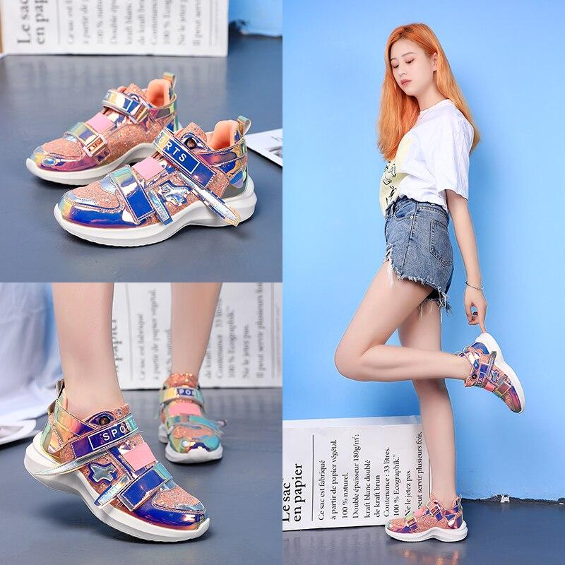 Nouveau miroir marée chaussures femmes baskets de luxe chaussures femmes designers plate-forme haute super chaussures décontractées femmes paillettes baskets - 3