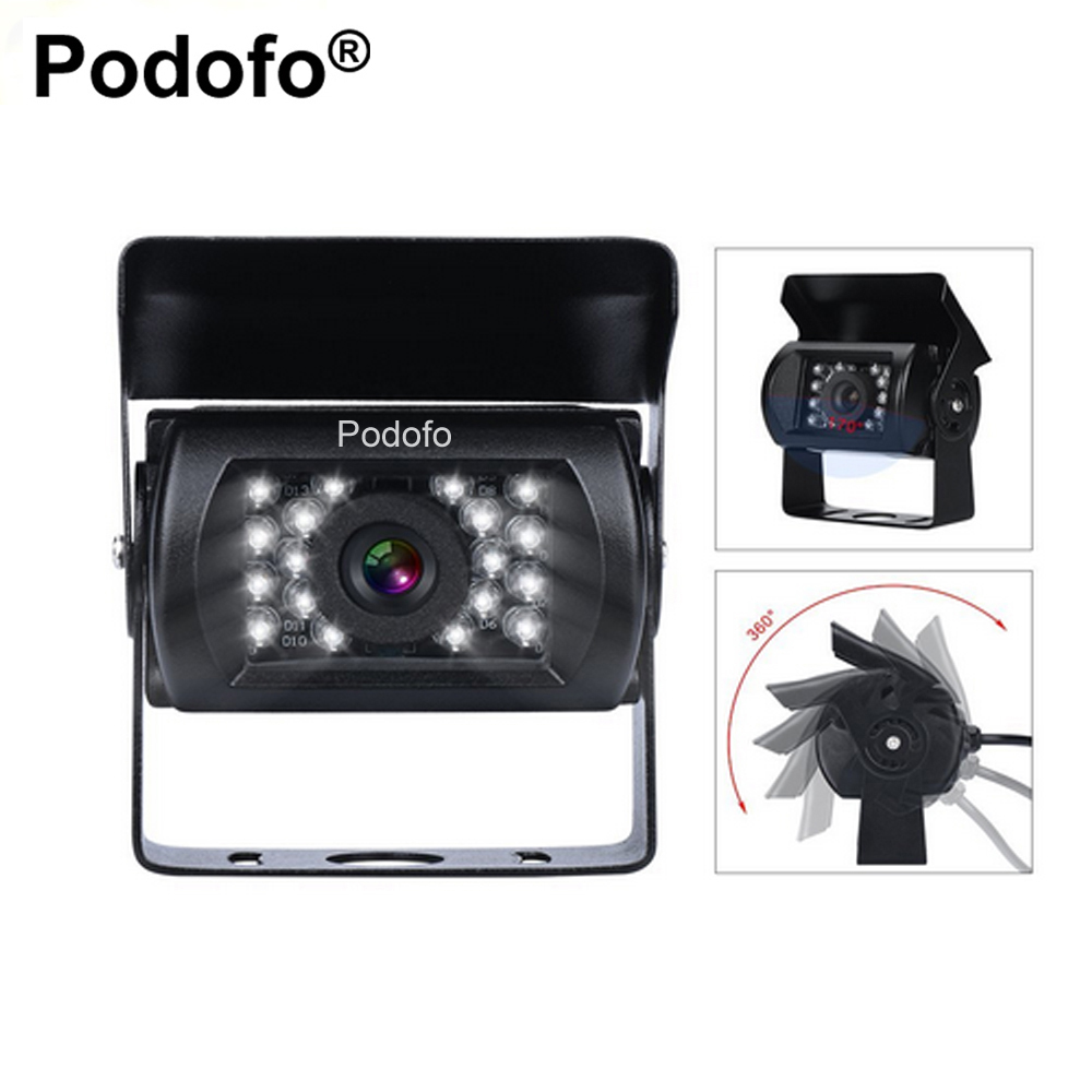 Podofo Bus & Truck Car Rear View Camera Reverse Backup IR Nightvision Waterproof Reversing Parking Kit Cam ccd car reverse camera for ssangyong rexton kyron backup rear review reversing parking kit waterproof nightvision free shipping