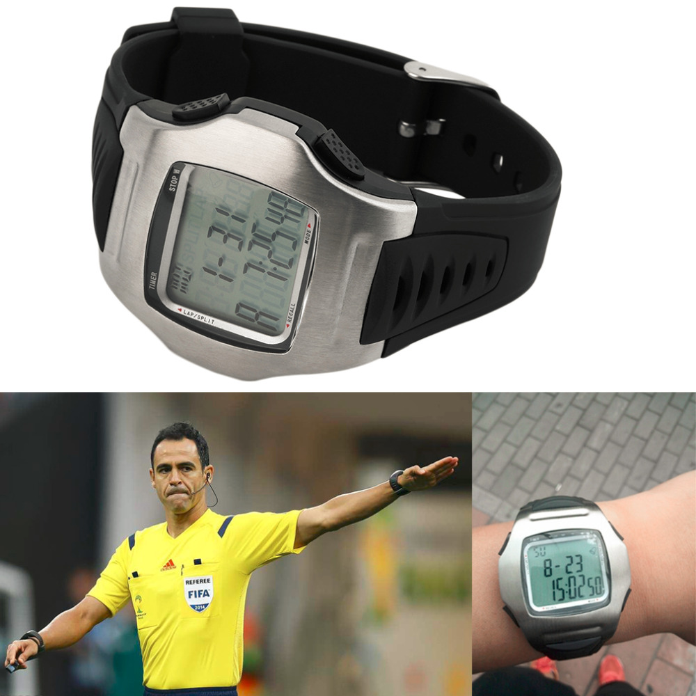 Men's Digital Watches football Referee Stopwatch Timer Chronograph Countdown Reloj hombre Football Club Male Relogio