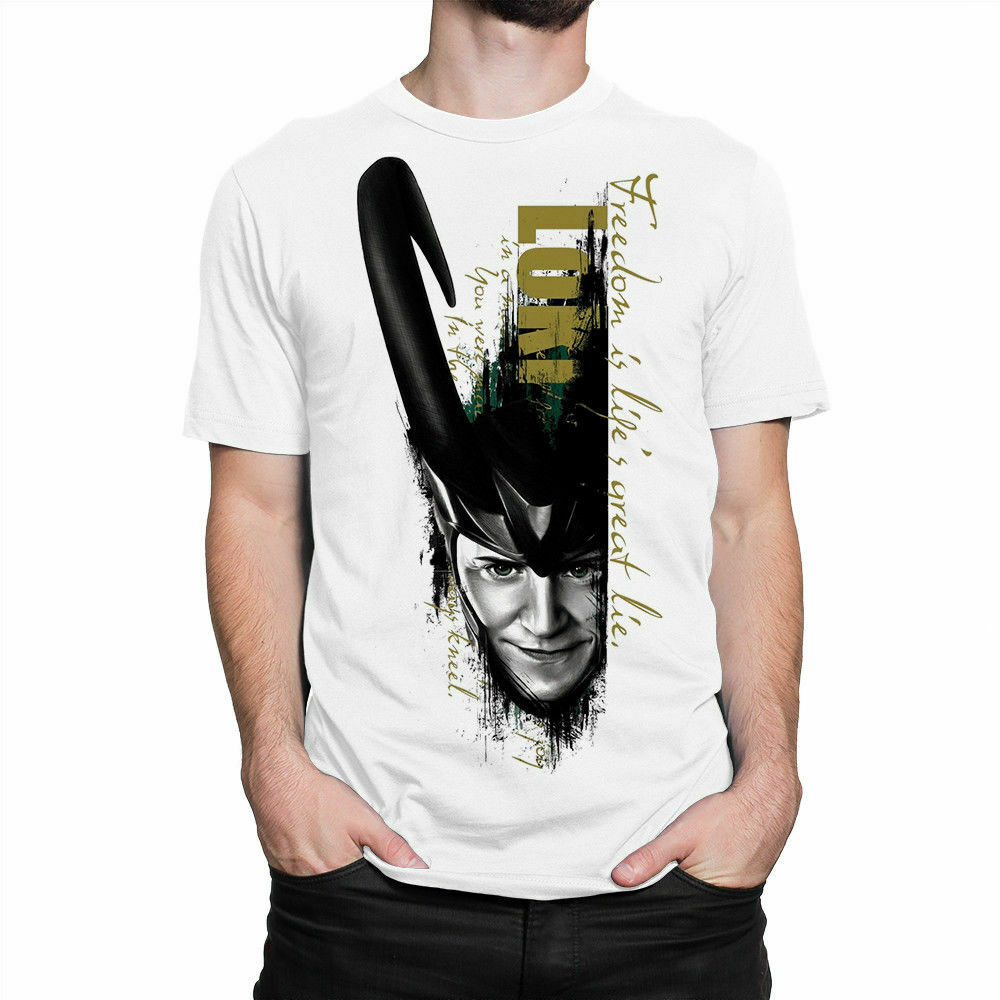 Loki Comics T-Shirt, Marvel Tee, Men's Tee S-3XL 100% Cotton Trend Men Tee Shirt Tops Short Sleeve Cotton Fitness T Shirts