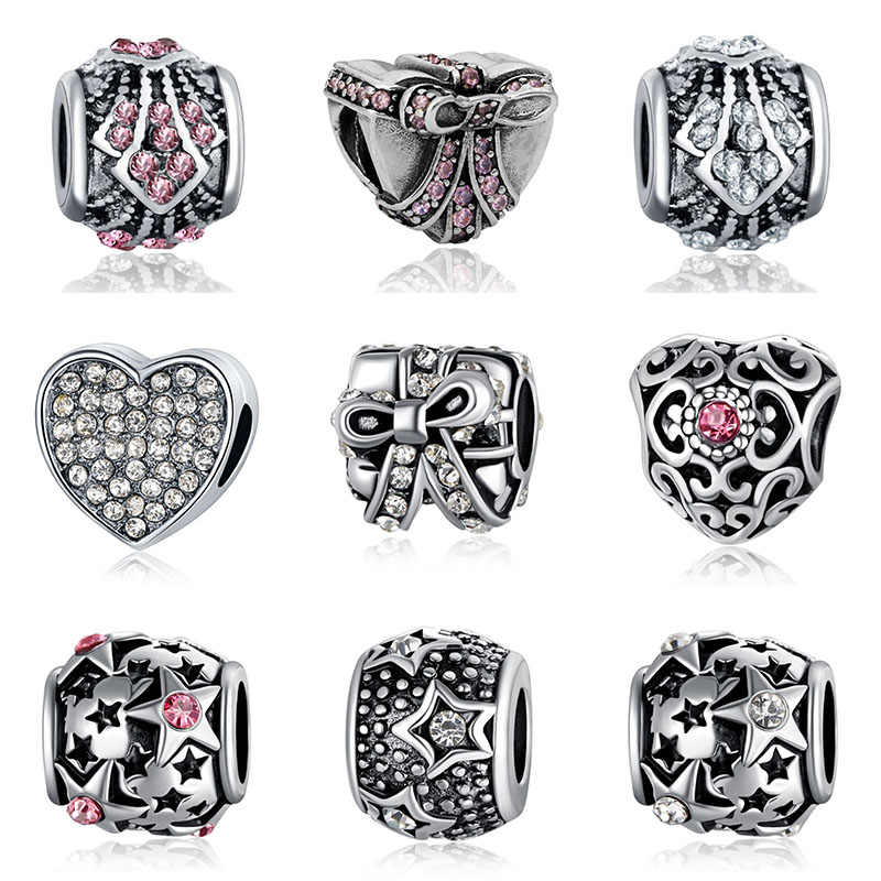 Fit Pandora Charms Silver 925 Original Bracelet Jewelry Valentine's Day Mary Poppins Bijoux Choker Riverdale Beads Jewellery