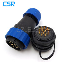 SD28TP ZM Waterproof Connector 12 Pin Male And Female IP67 8 15mm LED Power Cable Wire
