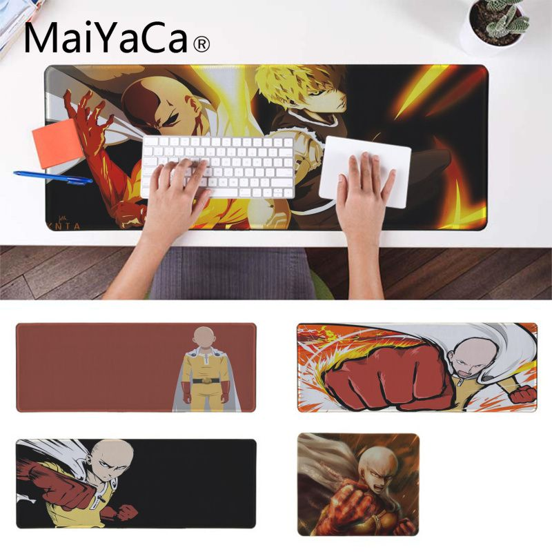 MaiYaCa One Punch Man Unique Desktop Pad Game Mousepad Pad To Mouse Notbook Computer Gaming mouse pad Keyboard Mouse Mats