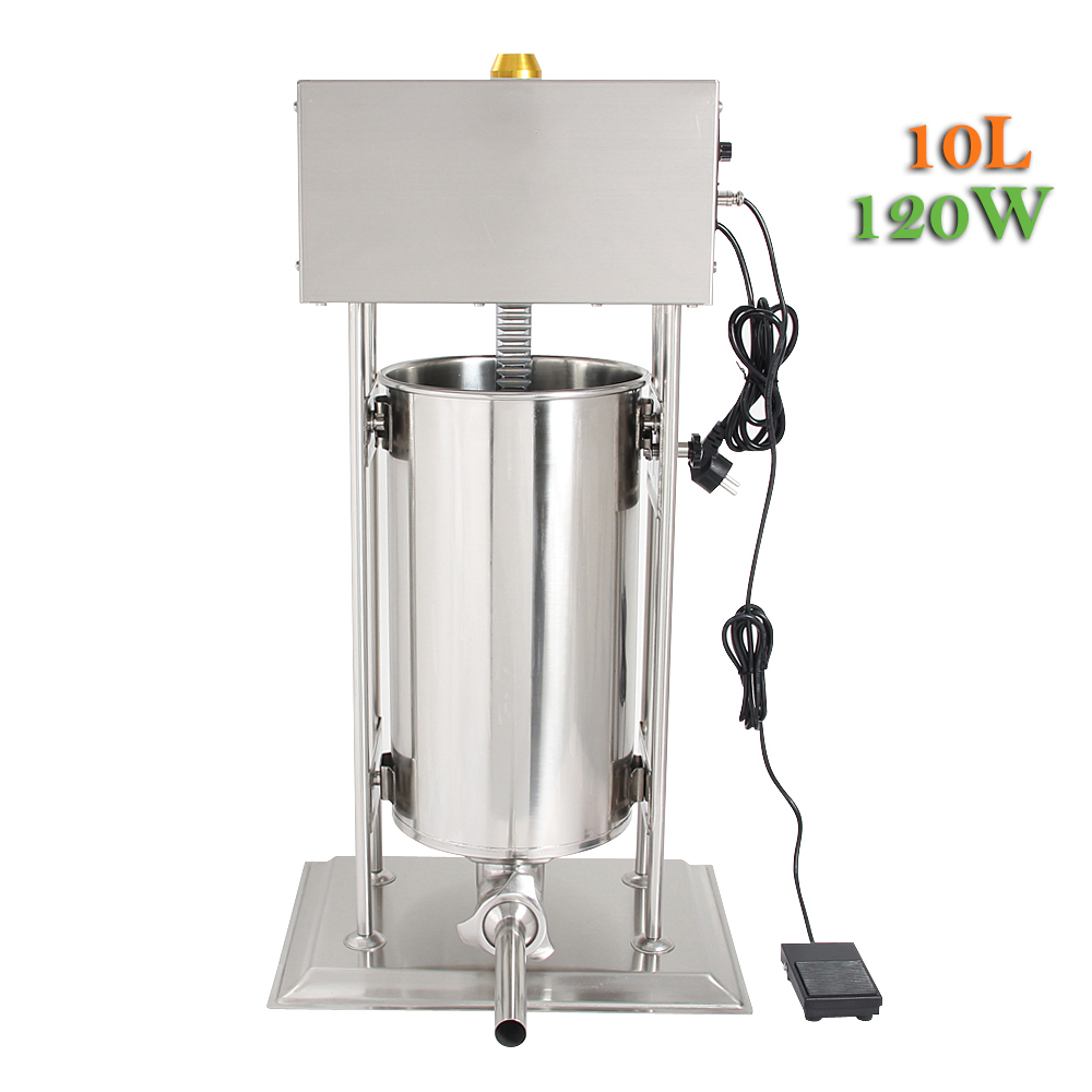 10L Stainless Steel Commercial Electric Sausage Stuffer Filling Machine ship from germany 5l stuffer maker machine commercial sausage filling machine sausage stainless steel with 4 filling pipes