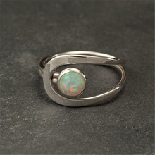 цена Opal Stone Ring Engagement Wedding Rings for Women Jewelry Couple Love Ring Women Accessories Anillos Mujer онлайн в 2017 году