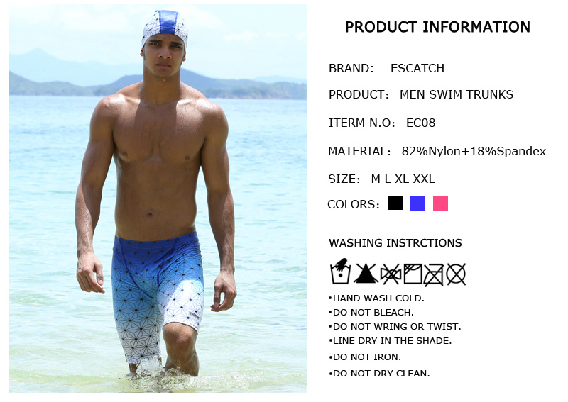 Topdudes.com - Men's Summer Beach Boxer Swimming Surfing Board Shorts With Cap