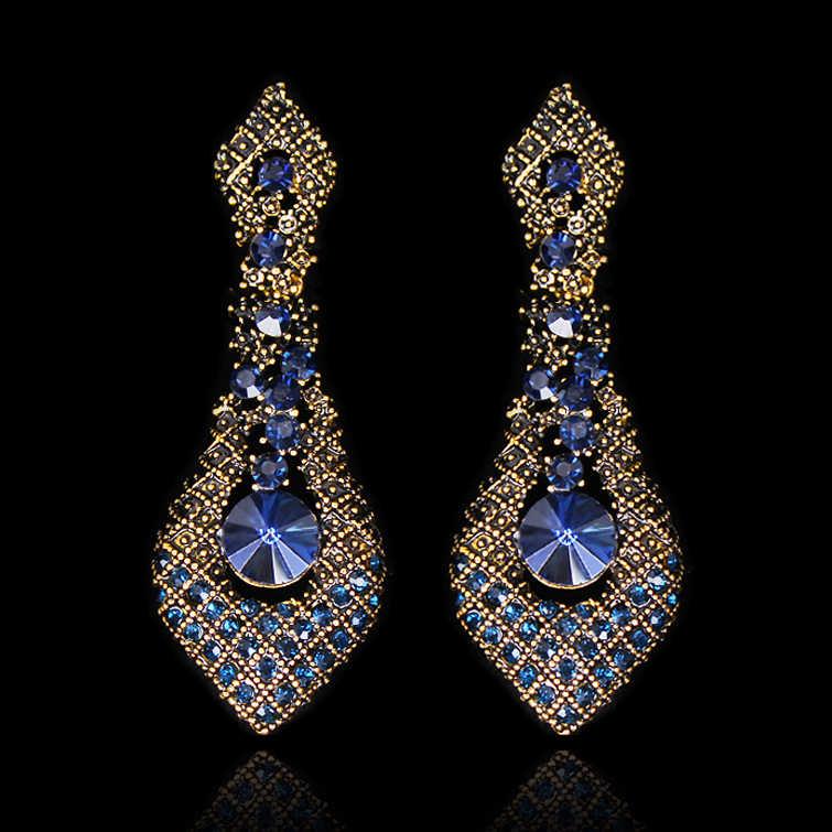 2019 Fashion Indian Vintage Earrings for Women Modern Statement Earring  Women s big Drop Hanging Dangle Brincos 8548d74ae2fa