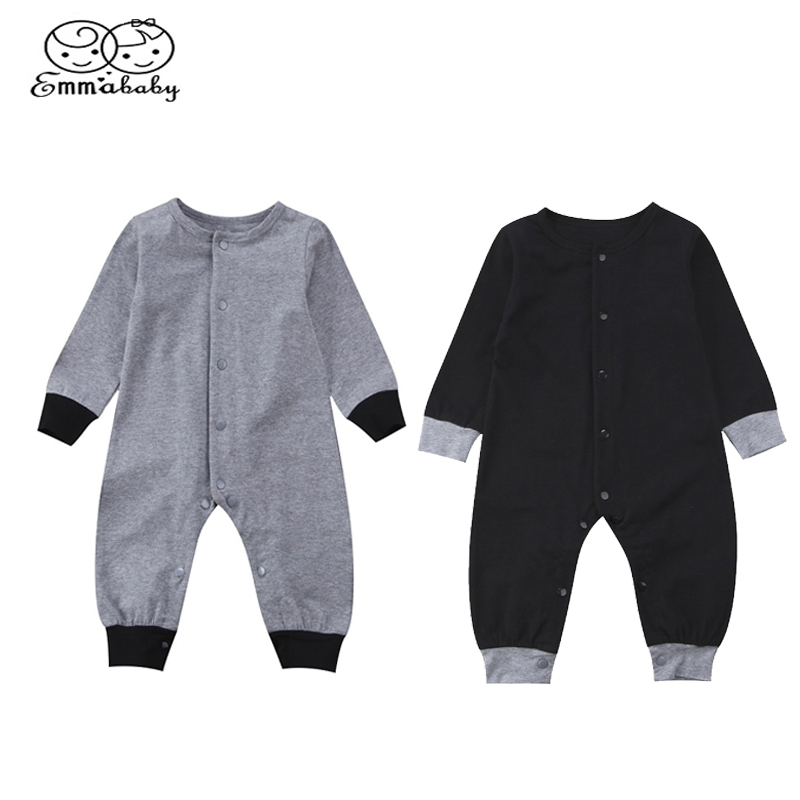 Emmababy Infant Kids Autumn Baby Clothes Cotton Boy Girl Long Sleeve Romper Jumpsuit Clothes Playsuit Outfit 0-24M