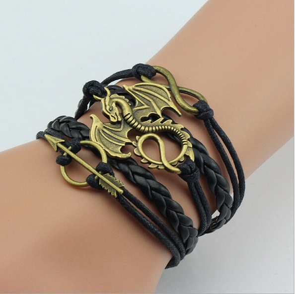Game Of Thrones Leather Dragon Bracelet Jagfox Com