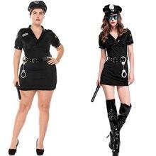 Большие Размеры Sexy полиции Для женщин костюм Хэллоуин полицейский сексуальный костюм полиция Для женщин Косплэй взрослых карнавальные костюмы