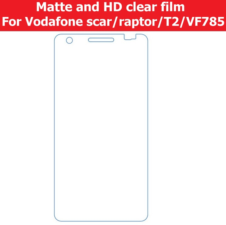 HOT! Front Screen Anti-Glare Matte Film For Vodafone T2 VF785 Scar Raptor HD Clear Glossy Protector Film LCD panel guard+cloth