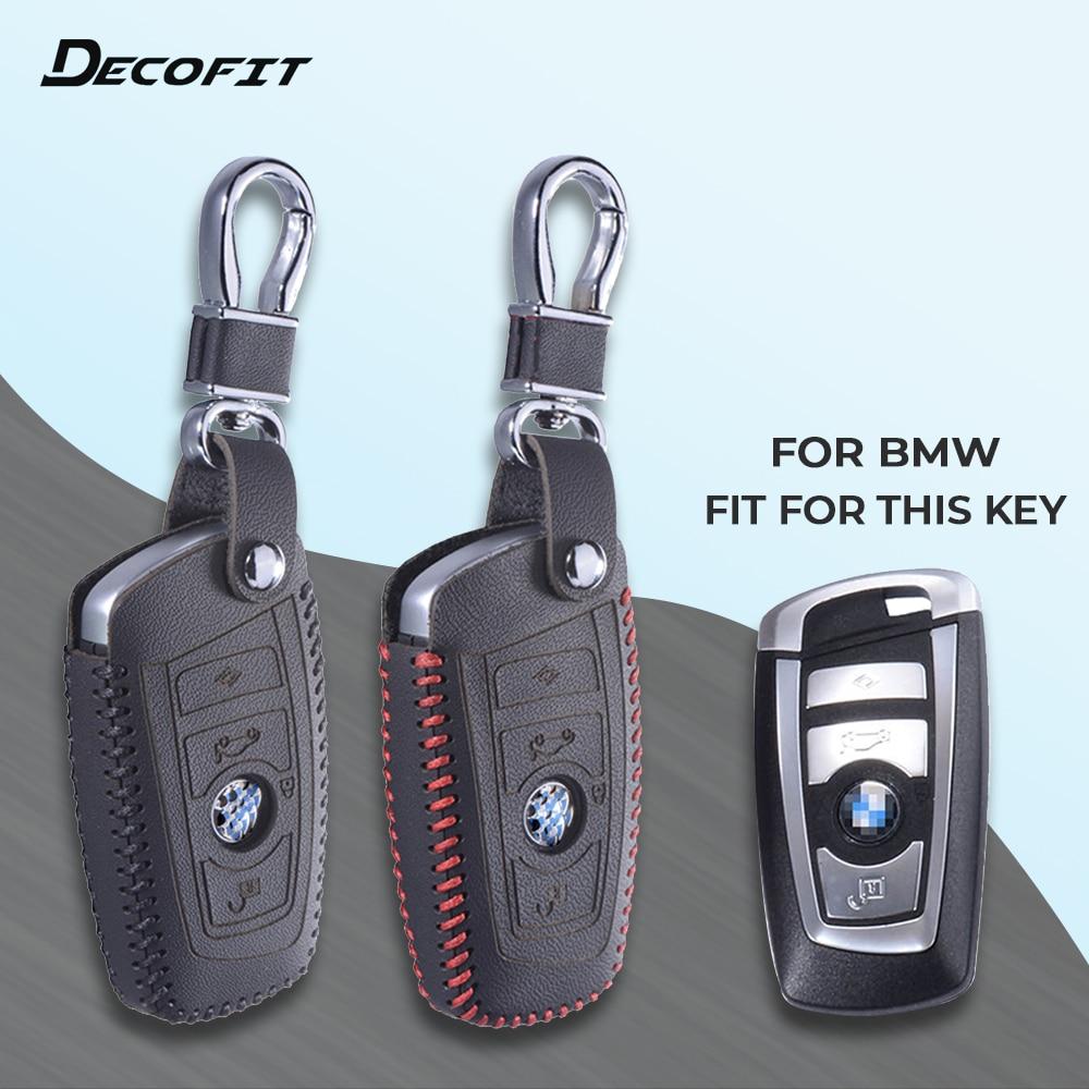 Top Couvercle du Clavier En Cuir pour BMW 5X1 M1 GT F20 F10 F30 520 525 520I 530D E34 E46 e60 E90 Cas À Distance Chaîne Shell Porte-clés Keybag