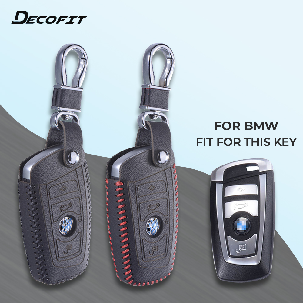 Top Leather Key Cover for BMW 5 X1 M1 GT F20 F10 F30 520 525 520I 530D E34 E46 E60 E90 Remote Case Chain Shell Keychain Keybag