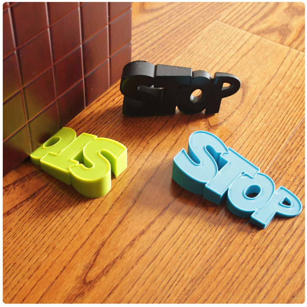 Kidlove 1PCS/Set Kids Baby Security Products Anti-pinch Soft Letter Silicone Door File
