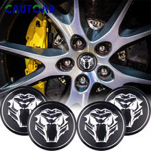 4pcs/Pack Tiger head Emblem Car Steering tire Wheel Center Hub Cap sticker Badge For Kia Rio K2 Jaguar Hubcap Audi Nissan Ford шнур нахлыстовый rio intouch mid head spey