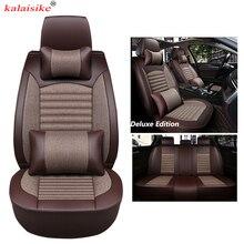 Kalaisike универсальные чехлы сидений автомобиля для DS все модели DS DS3 DS4 DS4S DS5 DS6 Авто стиль автомобильные аксессуары авто подушка