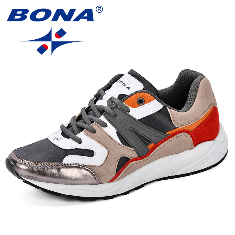 $31.02 BONA New Men  Mesh Breathable Running Shoes Suede Microfiber Autumn Men Training Footwear Chaussures Homme Zapatillas Deporte