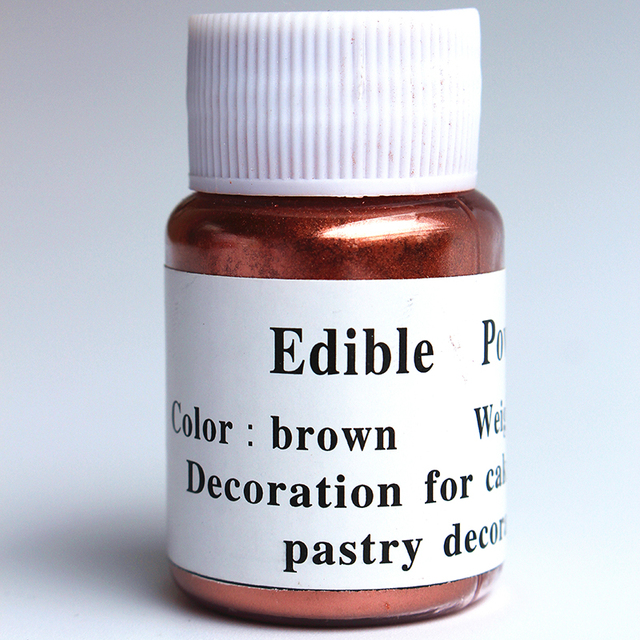 10g bronze edible pigment Cake Food Powder Coloring To Decorate ...