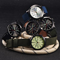Lechosa Mens Reloj de Cuarzo Ejército Militar Negro Dial Fecha Luxury Sport Reloj de pulsera Relojes DEC27