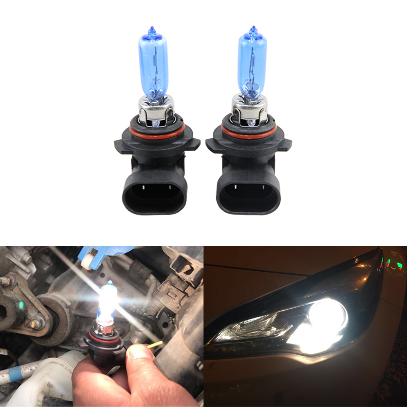2x 9012 HIR2 Halogen Light Bulbs 55W 6500K Xenon Clear White Car-styling Car Headlights 9012LL HIR2 PX22d Car Headlight Bulbs