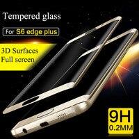 Lainergie 3D 0,2mm Arc 9 H 2.5d Gehärtetem Glas Voll bildschirm Schutzfolie Abdeckung für samsung galaxy S6 rand plus