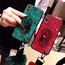 Luxury Gold Foil Bling Marble Phone Case For Samsung Galaxy S10 S10PLUS S9 S8 A8 PLUS 2018  Glossy Ice Crack Rhinestone Cover