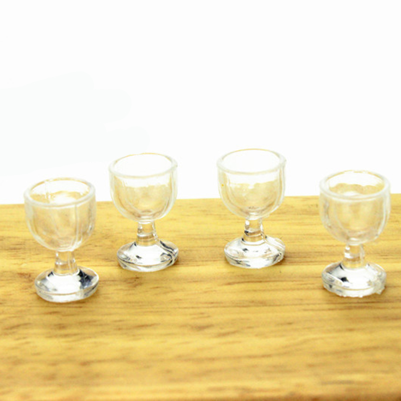 40pcs/lot 1:12 Dollhouse Miniature Kitchen wine glass Bar Furniture Accessories Doll House Toys for Children 2