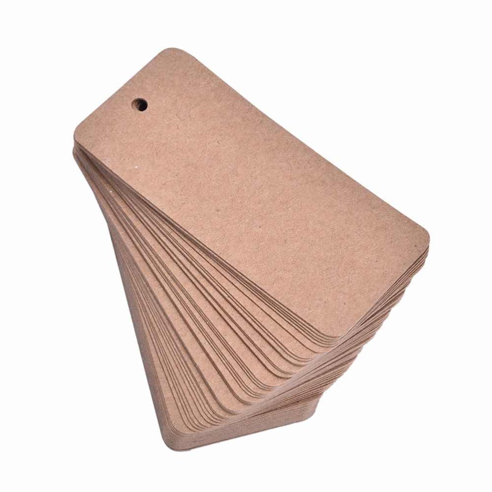 50 Pcs 태그 크래프트 가격 태그 의류에 대 한 DIY 선물 크리스마스 웨딩 파티 장식 용품 사각형 종이 레이블 수 제