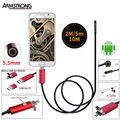 Endoscope 5.5mm Lens 2M 5M 10M USB Endoscope Red 2IN1 Inspection Camera Endoscopio Android OTG Phone Borescope For Android