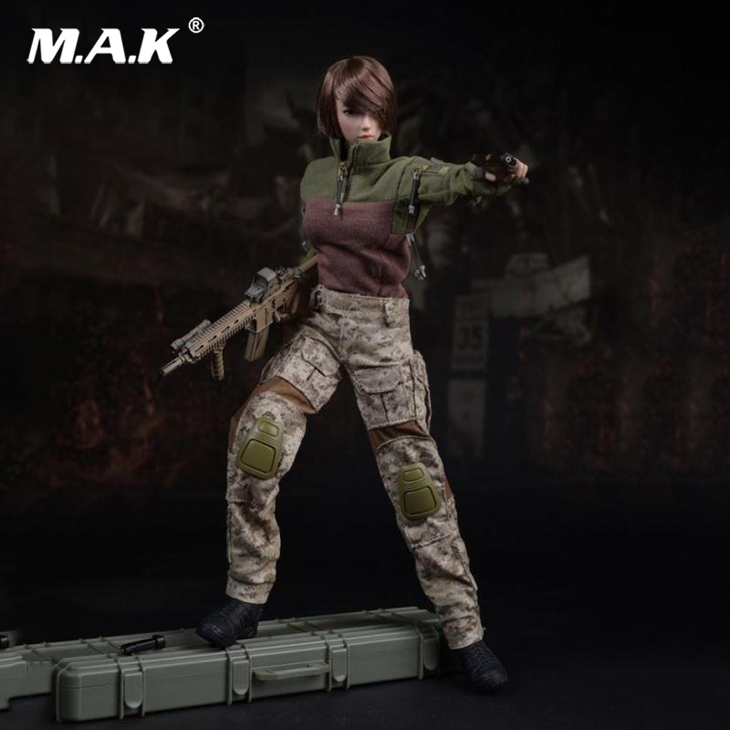 1:6 Scale US Navy Seals Female Combat camouflage Suit Clothes F 12'' Seamless Action Figure Doll 1 6 scale doll clothes for 12 action figure doll leisure sports suit no body for female figure clothes not include the head