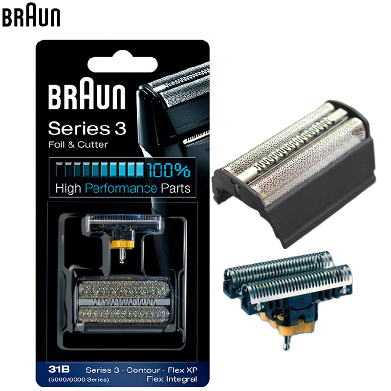 Braun 31B (5000/6000series) Foil & Cutter high performance parts for Series 3 Shavers (5610 5612 old 350 360 370 380 390CC) braun 32s series 3 shaver foil and cutter head replacement cassette with microcomb 320 330 340 350cc 360 370 380 390cc 395cc