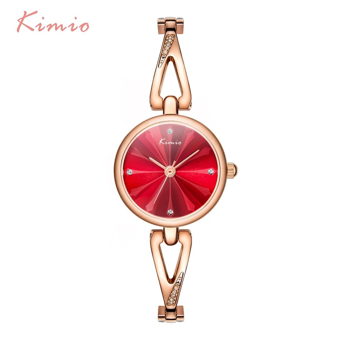 KIMIO Rose Gold Bracelet Watches For Women Wristwatch Quartz Women 39 s Watch Brand Luxury Fashion Ladies Watch Relojes Mujer 2018 in Women 39 s Watches from Watches
