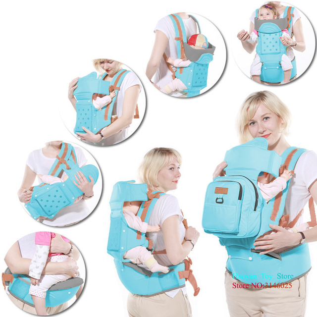 Ergonomic Baby Child Carrier Cotton Baby Carrier Comfortable and Ergonomic Multi-Position Carrying for Infants Babies Toddlers