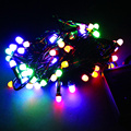 50pc 5 m 40 beads waterproof outdoor holiday flashing LED RGB colorful ball string lamp Christmas wedding decoration New Year