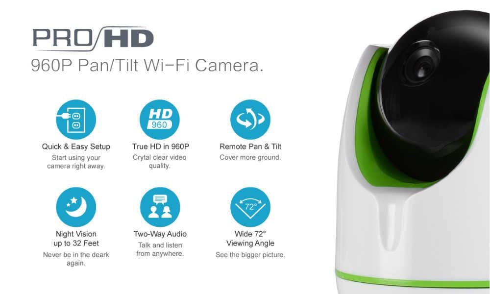 ANNKE ue odprawy HD 960P 1.3MP inteligentny bezprzewodowy WiFi PT kamera bezpieczeństwa IP sieci IR Night Vision Baby Monitor o wysokiej rozdzielczość