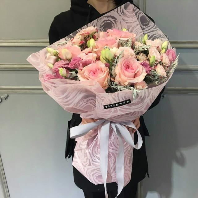 korean flowers wrapping paper van gogh starry sky series flower