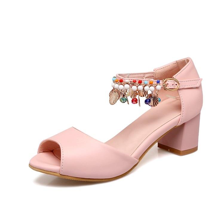 Nouvelle Sandales Été Chaussures 2 D'été De Princesse Bouche Poissons Épais Avec Plage Des Femmes Bohême 1 3 pxdFqd4w