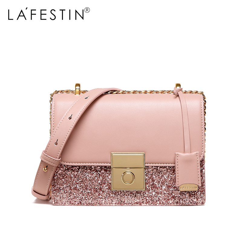 LAFESTIN Brand Women Shoulder Bag Glitter Sequin Messenger Crossbody Bag Fashion Mini Handbag Hot Sale bolso mujer purse teridiva women bags fashion brand famous designer mini shoulder bag woman chain crossbody bag messenger handbag bolso purse
