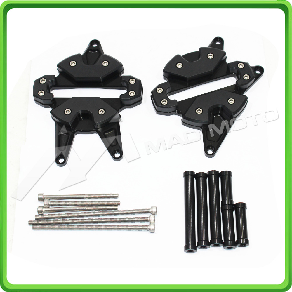 Motorcycle Engine Cover Protector Protection Set For Honda Grom MSX125 MSX 125SF 2013 2014 2015 2016 Black cyt alloy steel motorcycle engine valve for honda cg200 dark grey pair