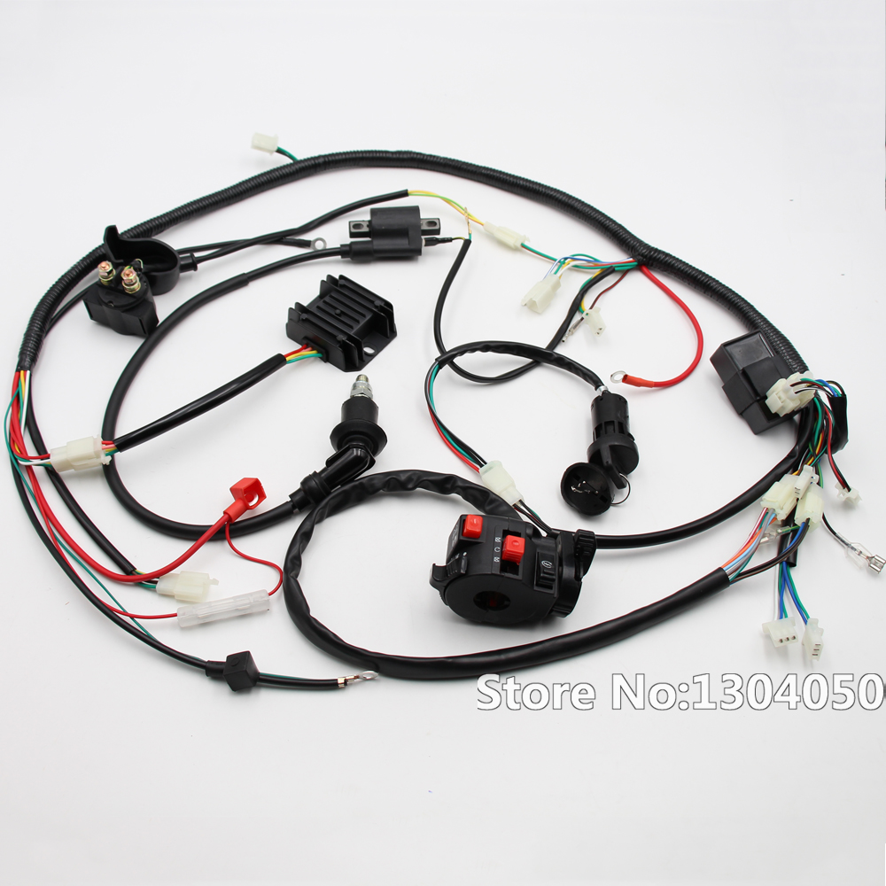 full electric start engine wiring harness loom gy6 125