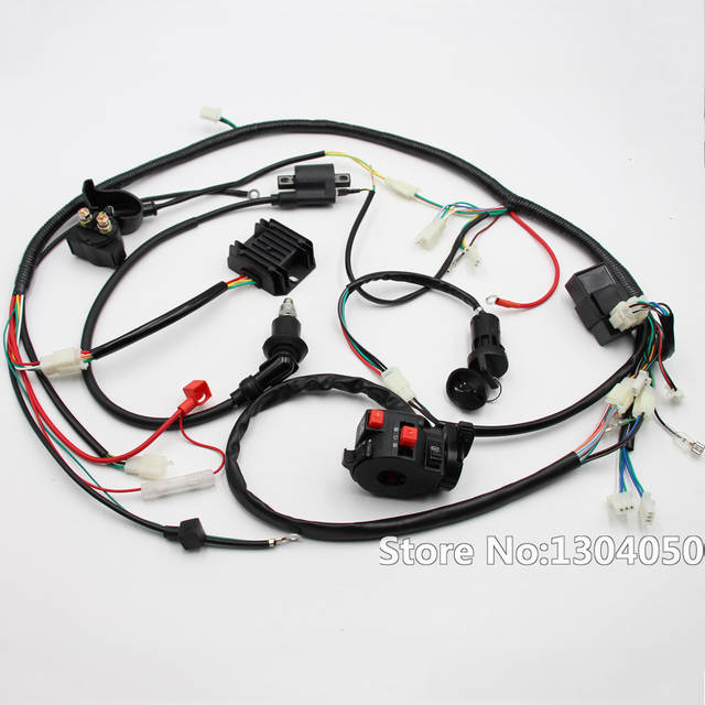 US $46.97 19% OFF|Full Electric Start Engine Wiring Harness Loom GY6 on helix go kart wiring harness, sunl go kart wiring harness, diamond go kart wiring harness, go kart 150cc gy6 wiring harness,