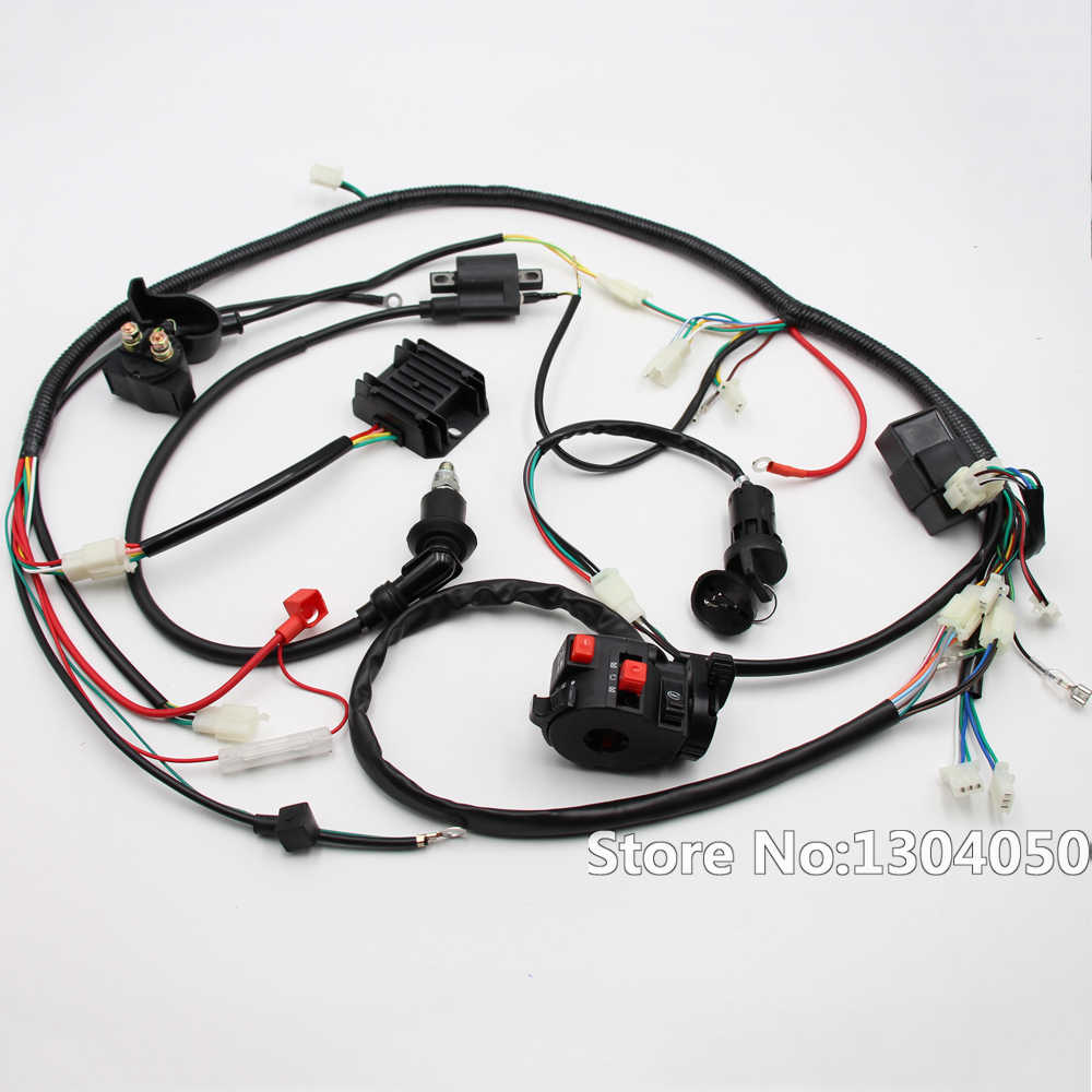 go kart gy6 wiring harness full electric start engine wiring harness loom gy6 125 150cc quad  full electric start engine wiring
