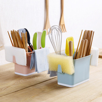 Plastic Dropping Tableware Storage Shelf Kitchen Chopsticks Shelf Multifunctional Spoon Kitchenware Storage Rack
