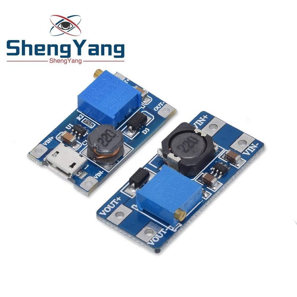 MT3608 DC-DC Step Up Converter Booster Power Supply Module Boost Step-up Board MAX output 28V 2A