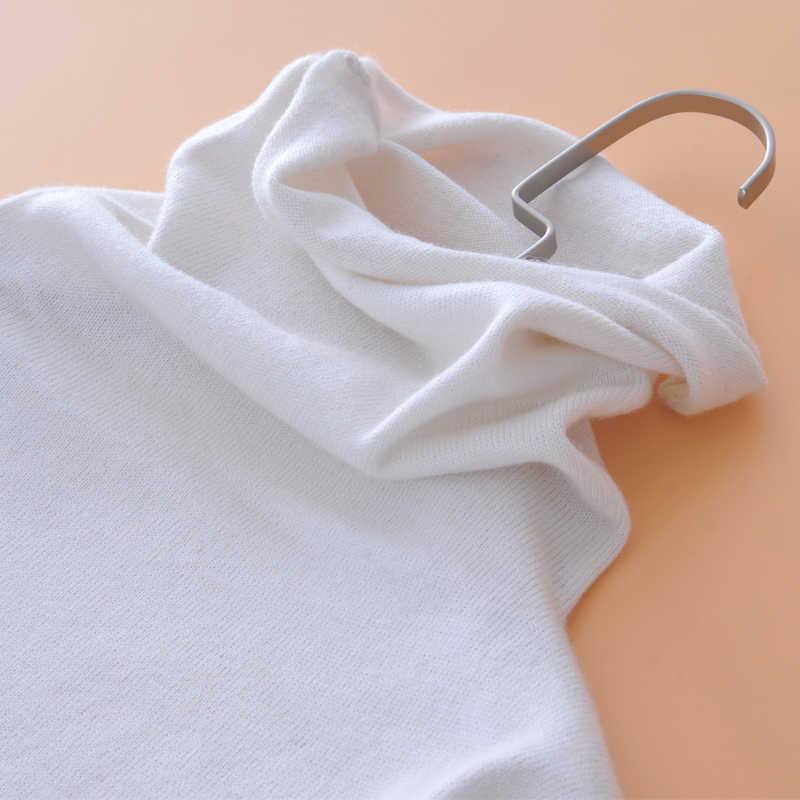 Женский осенне-зимний пушистый кашемировый свитер с ворсовым воротником, вязанные пуловеры с длинным рукавом, вязанные топы Джерси