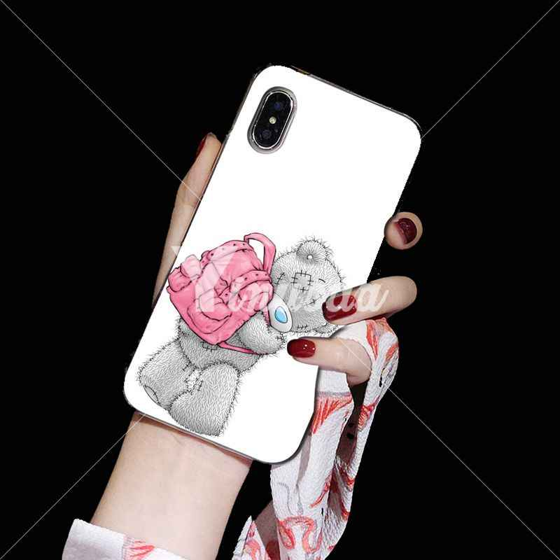 Yinuoda Teddy Ik Je Beer DIY Luxe High-end Protector Case voor iPhone X XS MAX 6 6S 7 7plus 8 8Plus 5 5S XR
